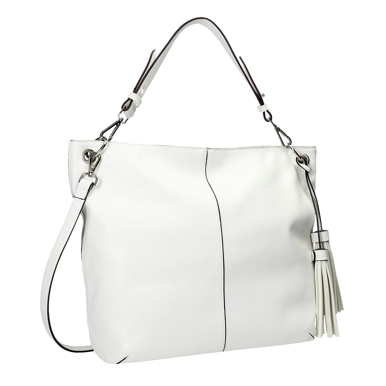 Bílá kabelka se střapci