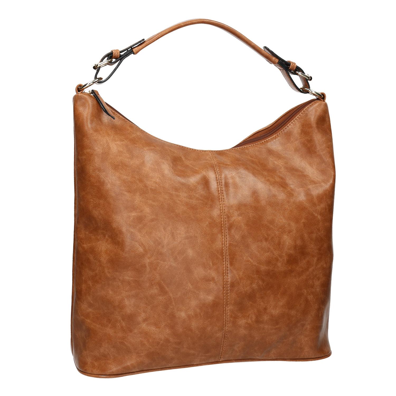 Brązowa torba wstylu hobo - 9613695
