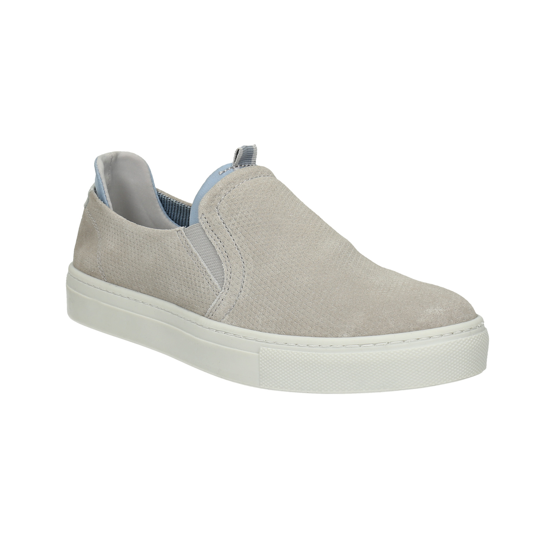 Damskie skórzane buty Slip On - 5162600
