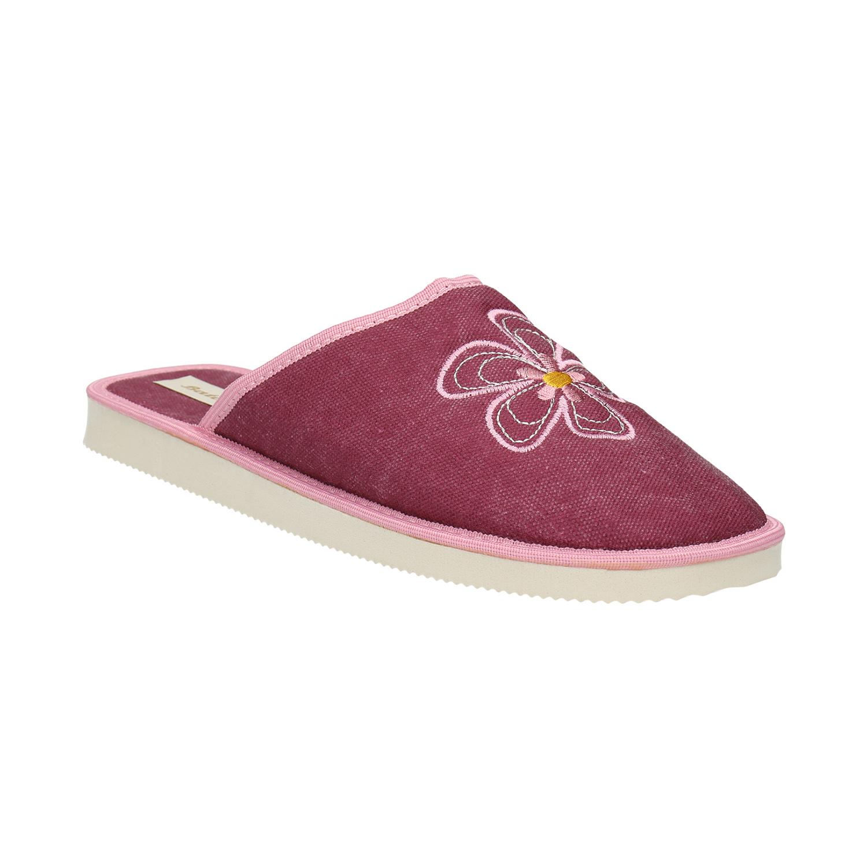 Dámská domácí obuv s kytičkou