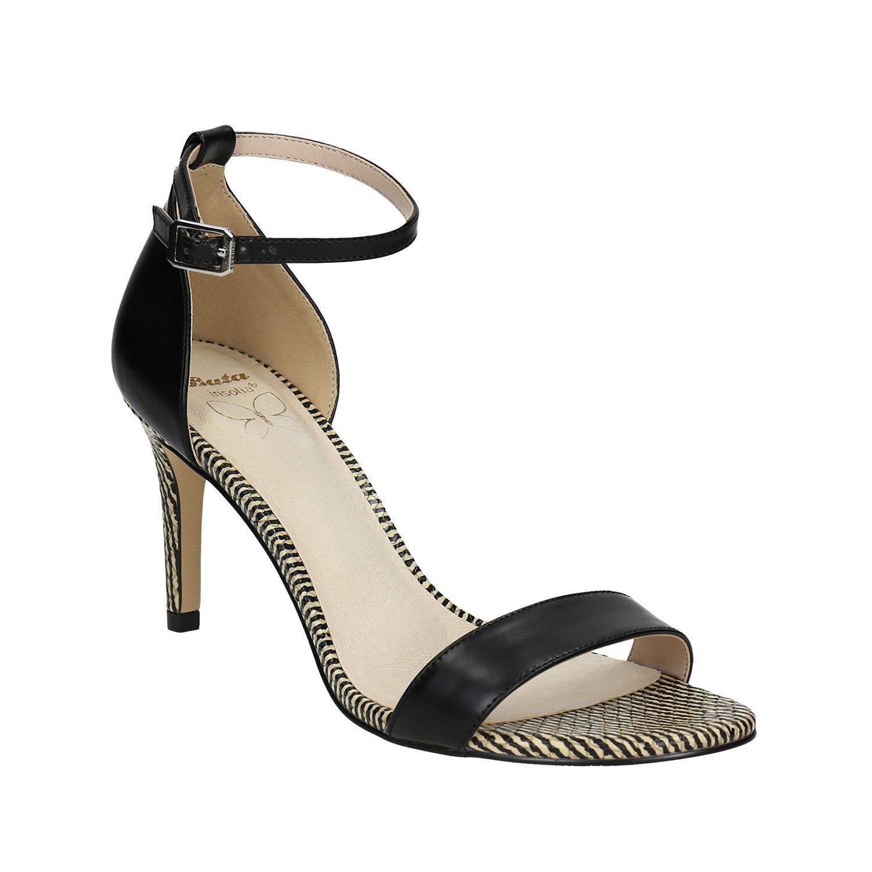 Kožené sandály na jehlovém podpatku
