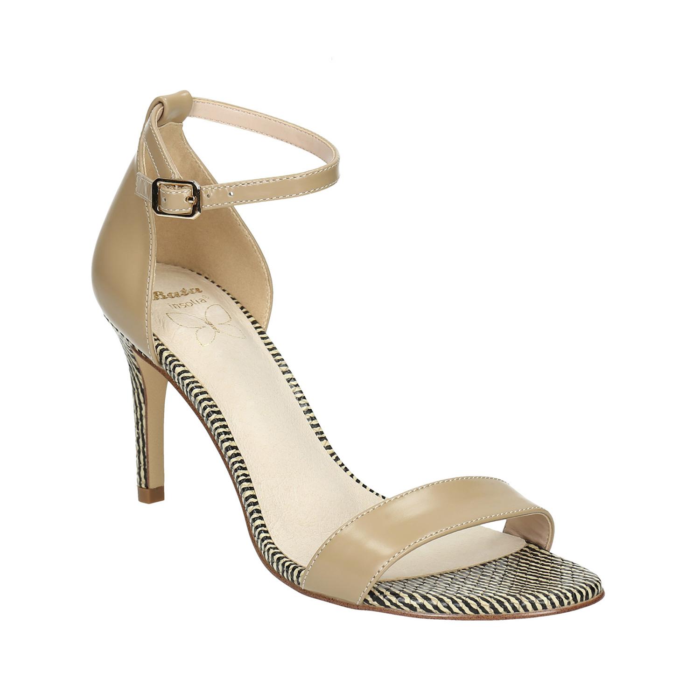 Skórzane sandały na szpilce - 7268640