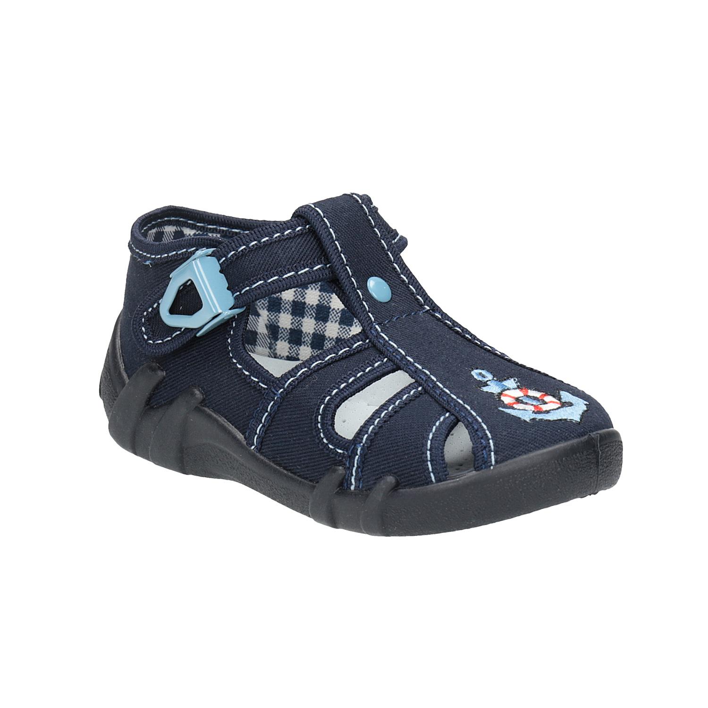Dětská domácí obuv modrá