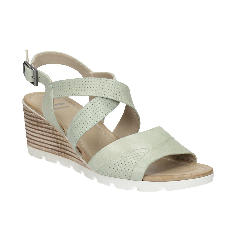 Kožené sandály na klínku