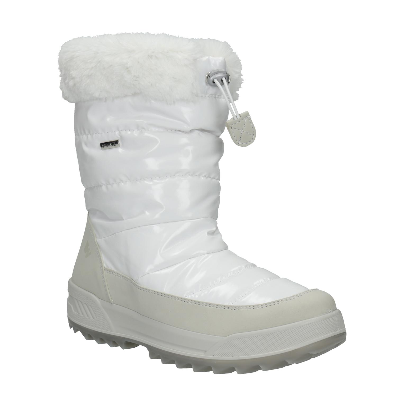 Dámské bílé sněhule s kožíškem