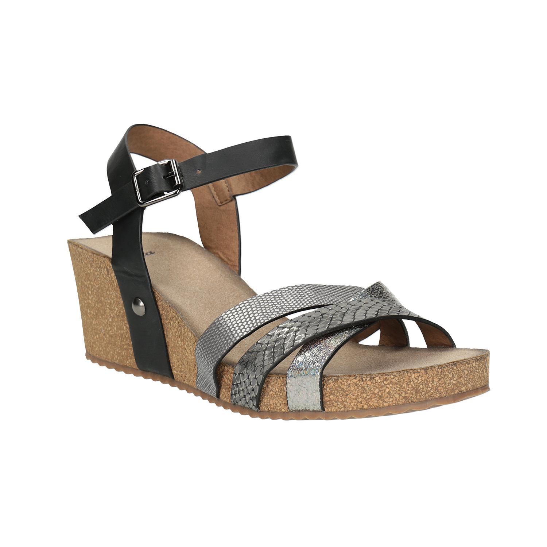 Korkové sandály na klínku