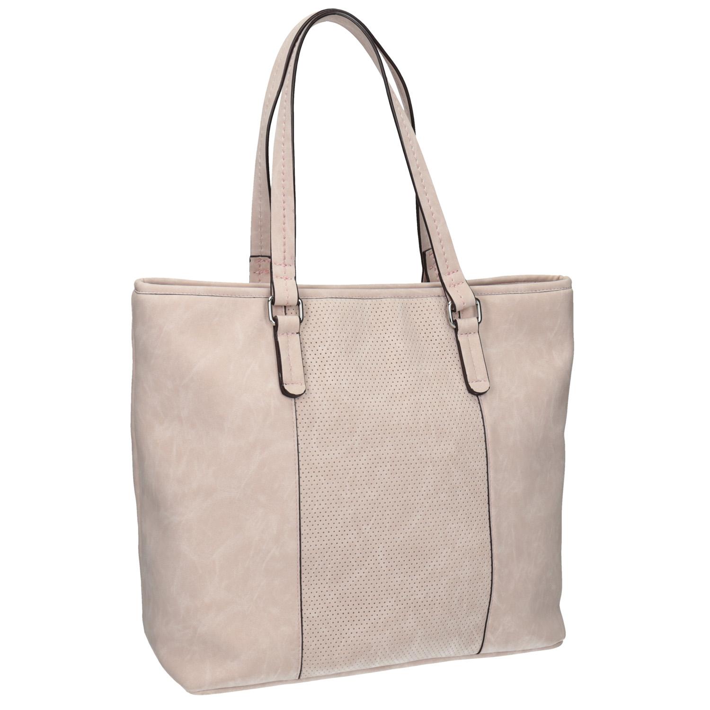 Różowa torba zperforacją - 9615711
