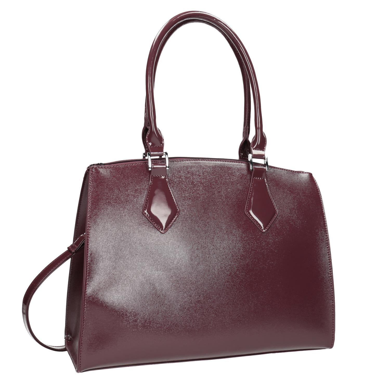 Bordowa torba ze sztywnymi uchwytami - 9615740