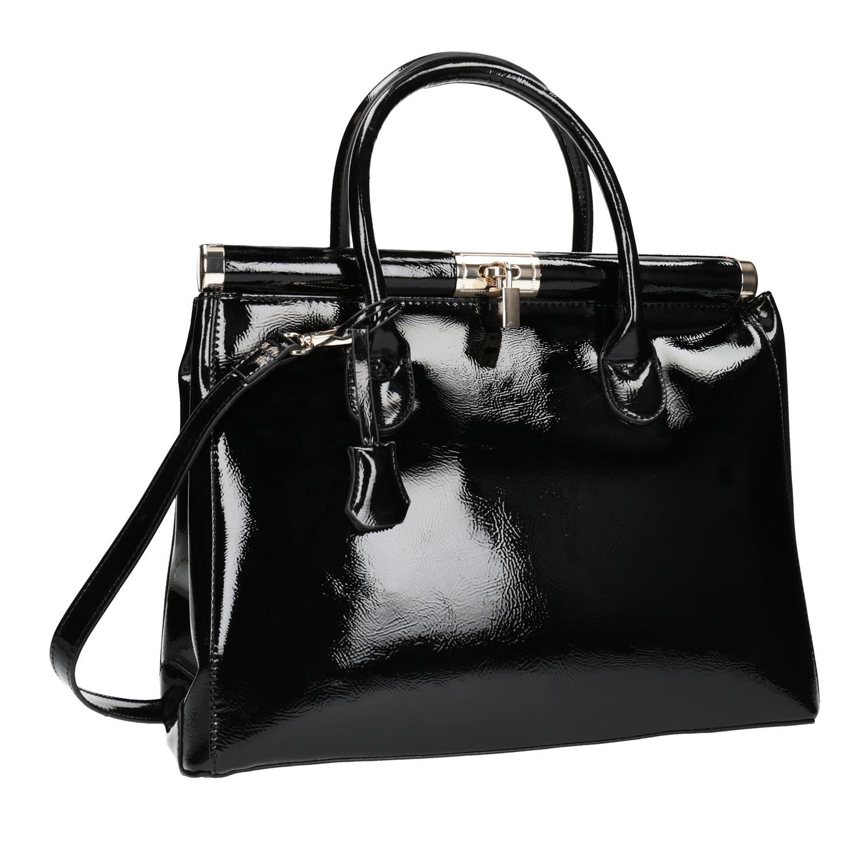 černá lakovaná kabelka