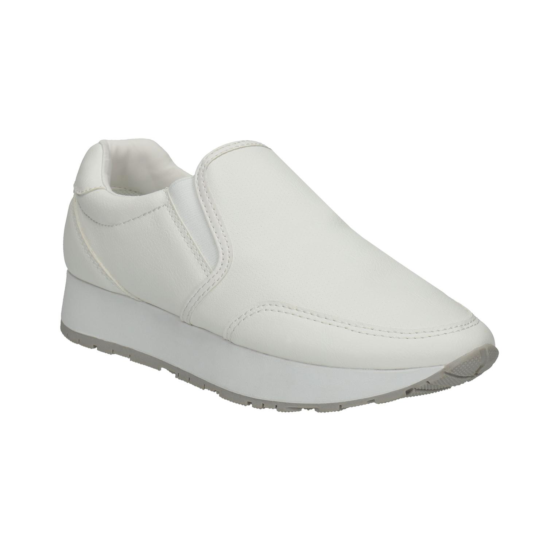 Białe buty Slip-on na szerokiej podeszwie - 5111603