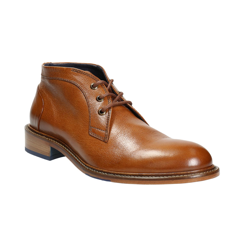 Buty za kostkę wykonane w całości ze skóry - 8263909