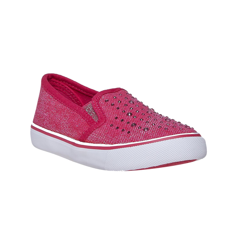 Buty dziewczęce typu slip-on zkryształkami - 2295193