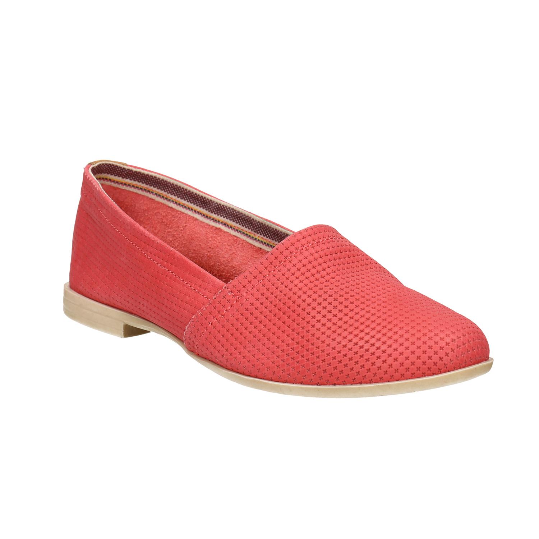 Červené kožené Slip-on boty