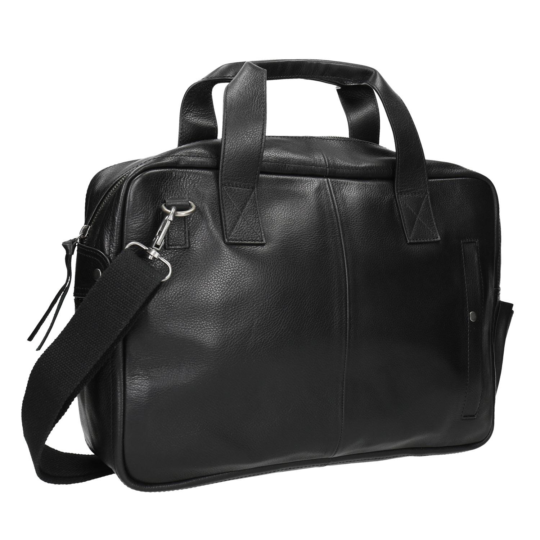 Czarna skórzana torba - 9646228