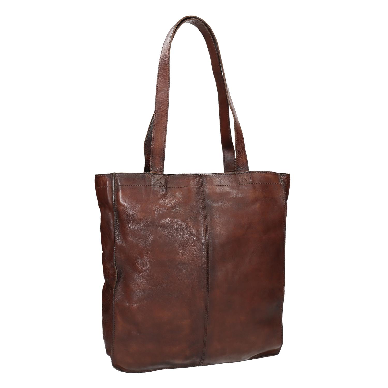 Brązowa skórzana torba - 9664203