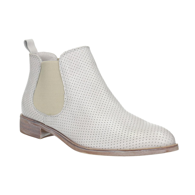 Kožené Chelsea boty s perforací