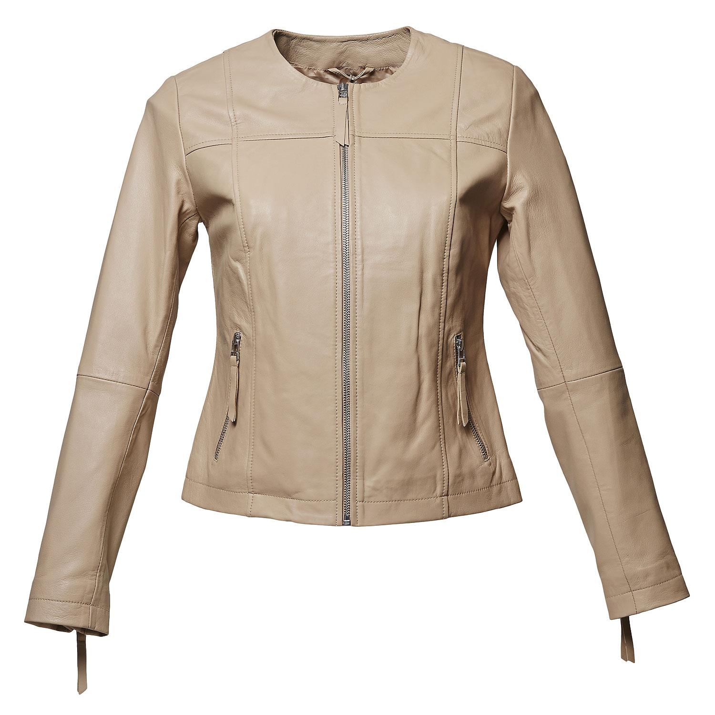 Elegantní kožená bunda