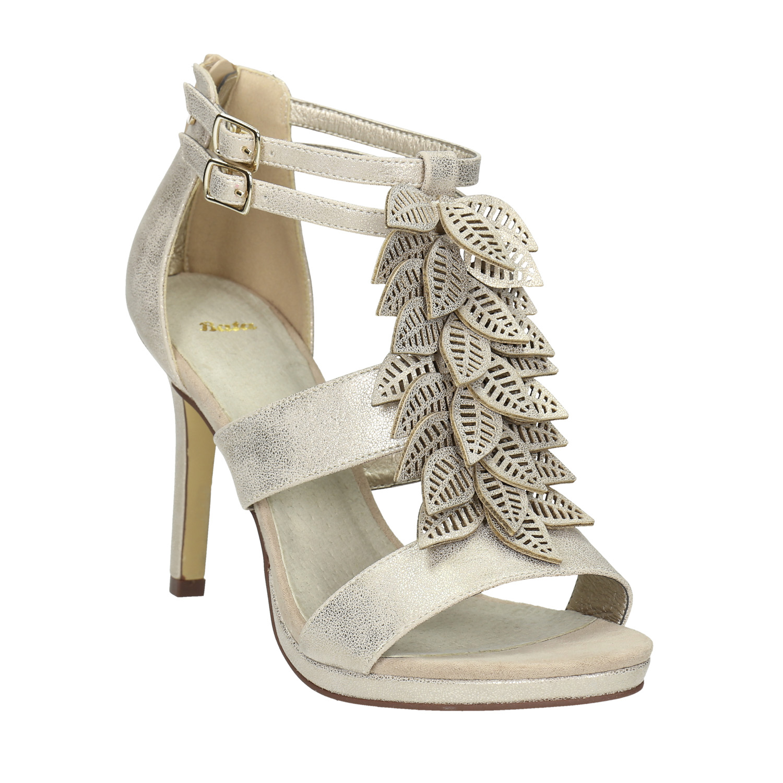 Sandály na jehlovém podpatku