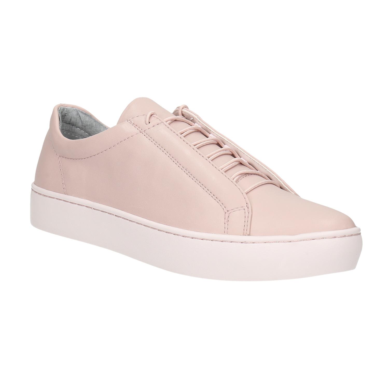 Růžové kožené tenisky