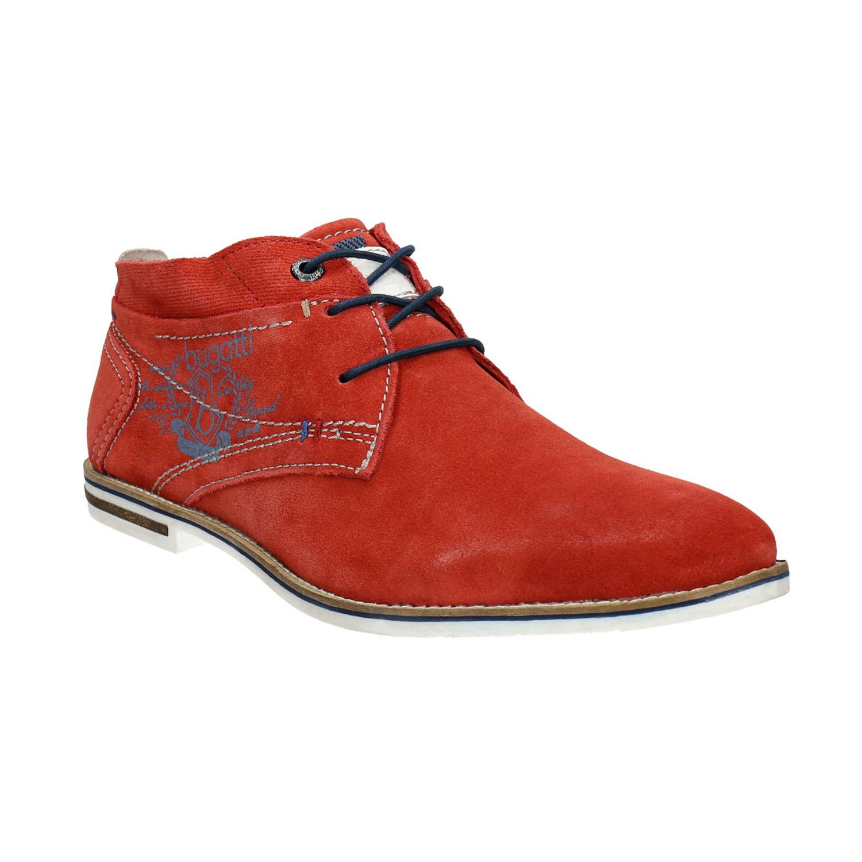 Czerwone skórzane buty Chukka Boots - 8235608