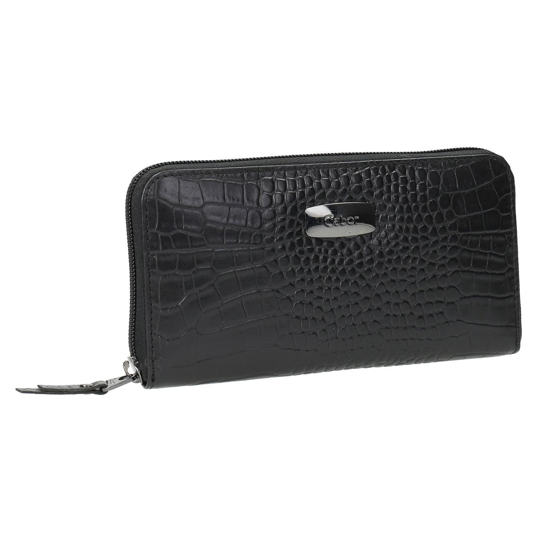 Kožená dámská peněženka na zip
