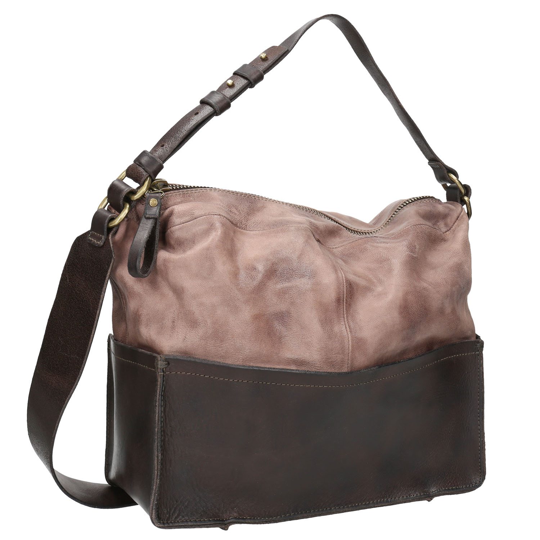 Kožená kabelka s masivním popruhem