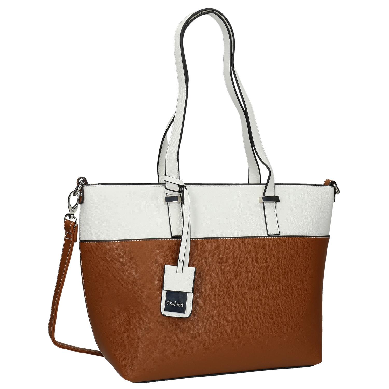 Dwukolorowa torba typu shopper - 9614087