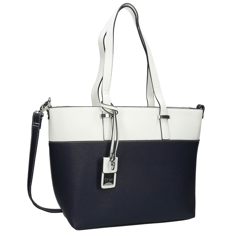 Dwukolorowa torba typu shopper - 9619087