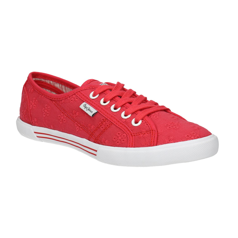 Červené tenisky s výšivkou