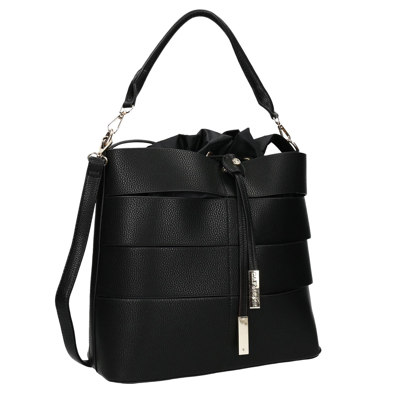 Černá kabelka s kovovými detaily