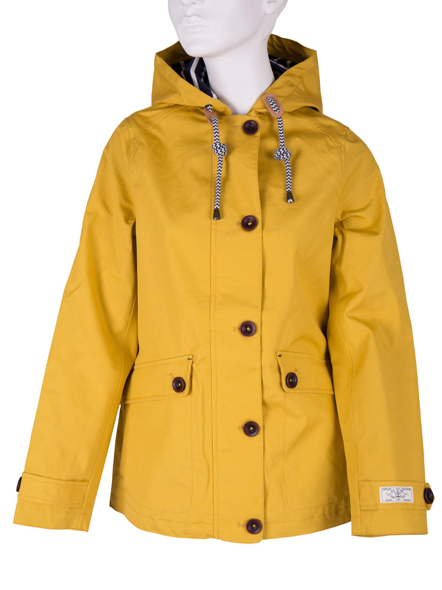 Dámská bunda s kapucí žlutá