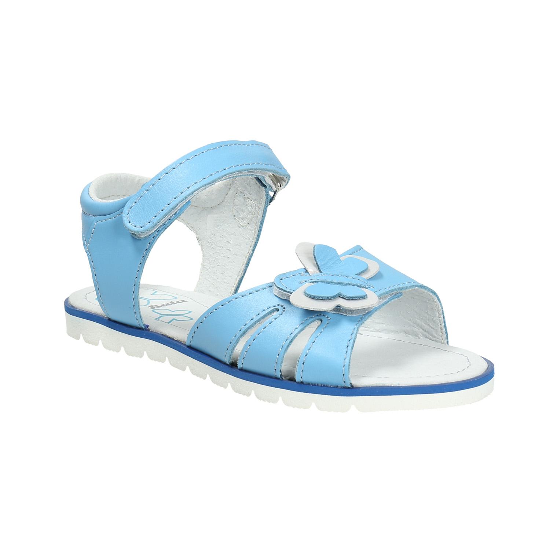Błękitne skórzane sandały dziecięce - 3649600
