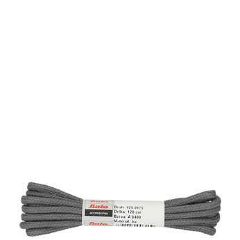 Tkaničky kulaté bavlněné 120 cm bata, šedá, 901-2124 - 13