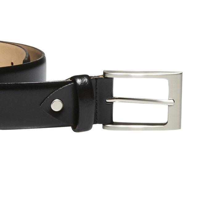 Klasický kožený pásek bata, černá, 954-6819 - 26