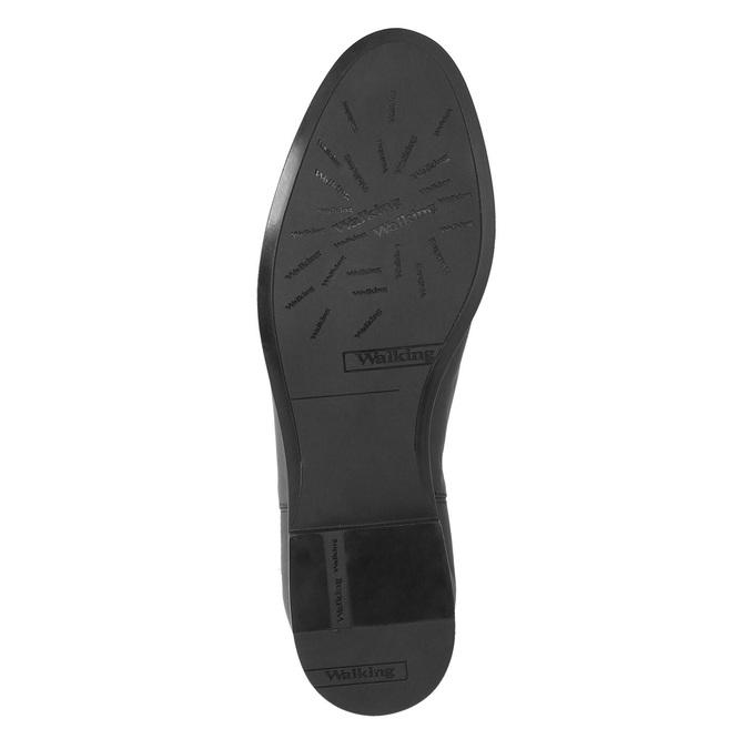Kožená kotníčková obuv s přezkou bata, černá, 594-6602 - 26