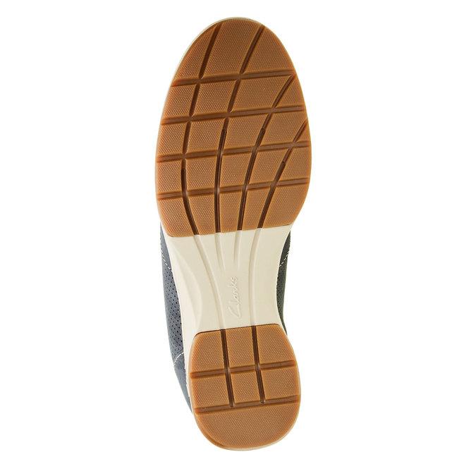 Pánská obuv z broušené kůže clarks, modrá, šedá, 826-9006 - 26