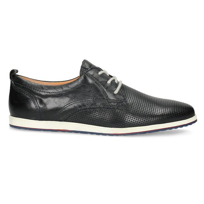 Ležérní kožené polobotky bata, modrá, černá, 824-9124 - 19