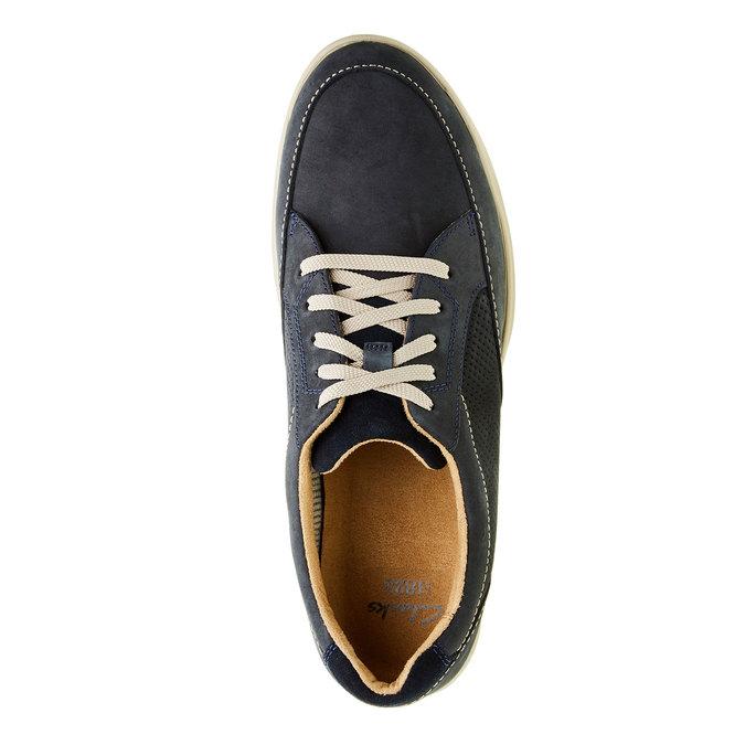 Pánská obuv z broušené kůže clarks, modrá, šedá, 826-9006 - 19