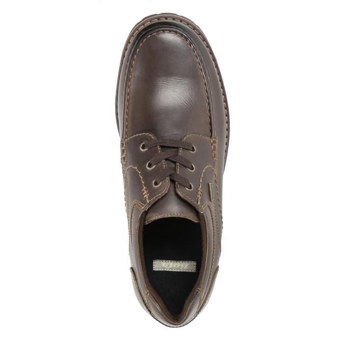 Kožené ležérní polobotky bata, hnědá, 826-4640 - 19