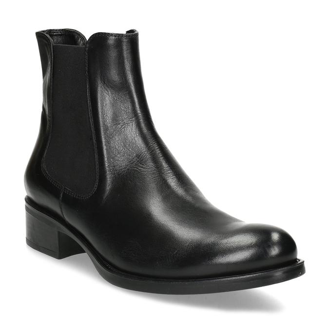 Kožená dámská Chelsea obuv bata, černá, 594-6448 - 13