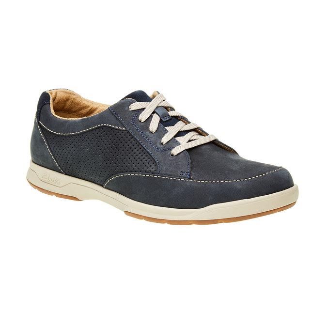 Pánská obuv z broušené kůže clarks, modrá, šedá, 826-9006 - 13