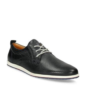 Ležérní kožené polobotky bata, modrá, černá, 824-9124 - 13