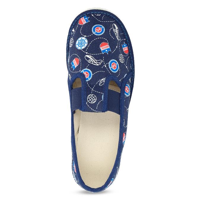 Modré dětské přezůvky se vzorem bata, modrá, 379-9012 - 17