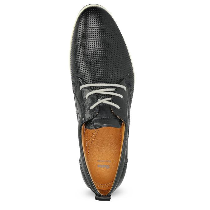 Ležérní kožené polobotky bata, modrá, černá, 824-9124 - 17