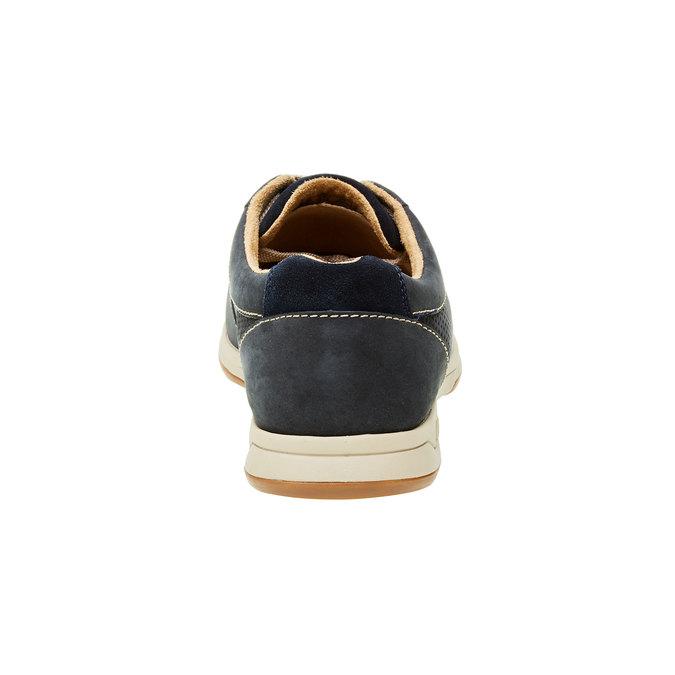 Pánská obuv z broušené kůže clarks, modrá, šedá, 826-9006 - 17