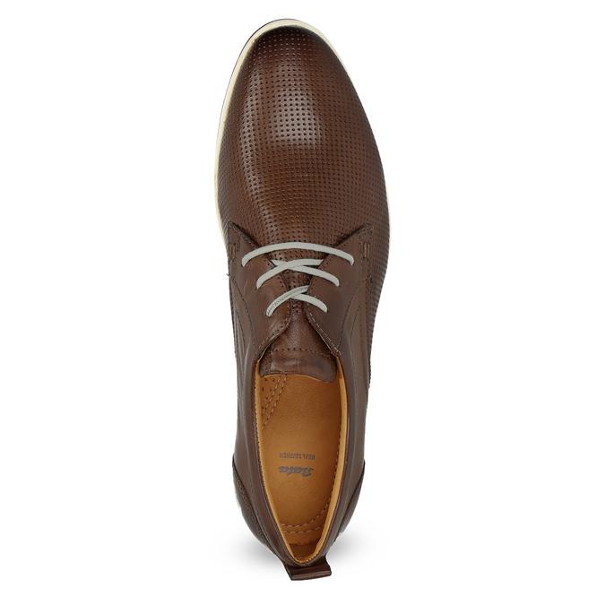 Ležérní kožené tenisky bata, hnědá, 824-4124 - 17