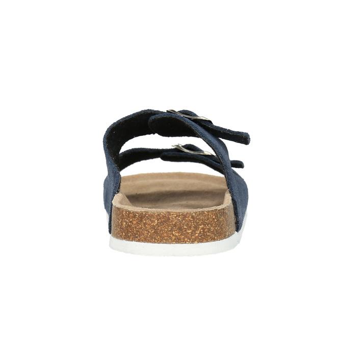 Kožená domácí obuv pánská de-fonseca, modrá, 873-9610 - 17