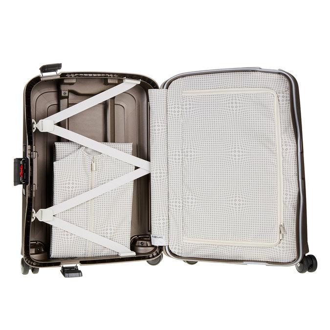 Kvalitní skořepinový kufr samsonite, hnědá, 960-4321 - 15