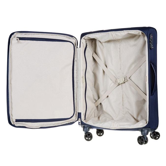 Textilní cestovní kufr na kolečkách samsonite, modrá, 969-9342 - 15