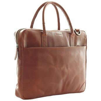 Kožená taška s popruhem royal-republiq, hnědá, 964-4199 - 13